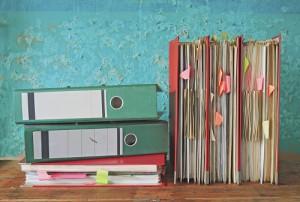 Unterlagen und Aktenordner